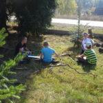 Výtvarná výchova v přírodě - 4. a 5. ročník - 16.10. 2018 076